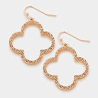 Crystal quatrefoil clover earrings