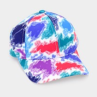 Crayon smudge painting baseball cap