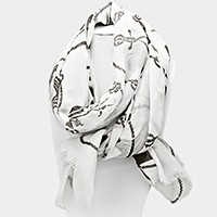 Nautical print pareo / scarf