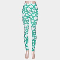Clover print leggings