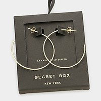 Secret Box _ 14K gold dipped 1.5