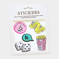 Pop corn _ Mixed graphic patch sticker set