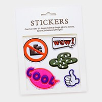 Cactus _ Mixed graphic patch sticker set