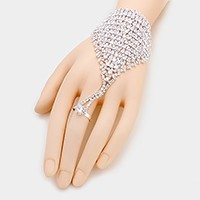 Rhinestone Evening Hand Chain Bracelet