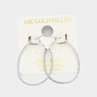 Textured metal Hypoallergenic hoop earrings