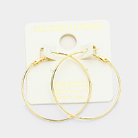 14K gold filled 4 cm metal Hypoallergenic hoop earrings