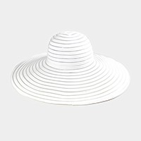 Striped see through wide brim floppy sun hat