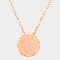 Textured matte metal pendant necklace