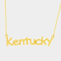 Kentucky pendant necklace