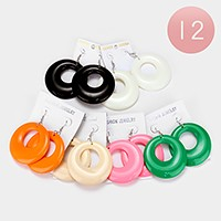 12 Pairs - hoop earrings