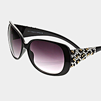 Crystal detail oversized sunglasses