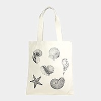 Sea life _ Eco canvas shopper bag
