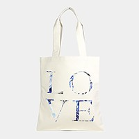 Love _ Cotton canvas eco shopper bag