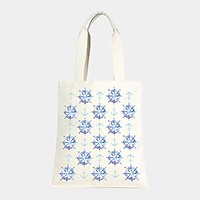 Nautical print _ Cotton canvas eco shopper bag