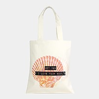 I love your soul _ Cotton canvas eco shopper bag