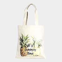 Pineapple _ Cotton canvas eco shopper bag