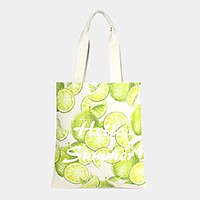 Hello summer _ Cotton canvas eco shopper bag
