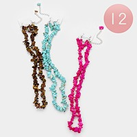 12 PCS - Beaded necklaces