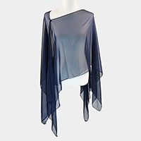 Multi-way sheer cover up with buttons