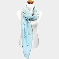 UV mystic anchor print scarf