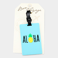 Aloha pineapple _ Bon Voyage rubber luggage tag
