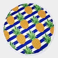 Pineapple _ Round beach terry towel