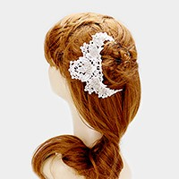 Lace crystal flower headpiece