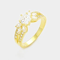 14K gold plated CZ ring