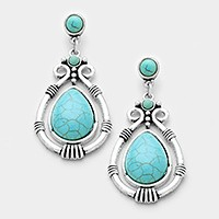 Antique turquoise earrings