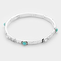 Turquoise & crystal stretch bracelet