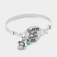 'Sweeter than sweet tea' message charm bracelet