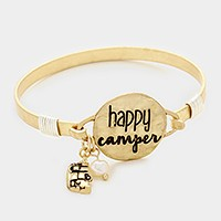 'Happy Camper' message charm bracelet