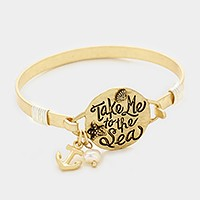 'Take me to the sea' message charm bracelet