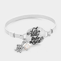 'Life is better under the sea' message charm bracelet