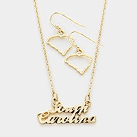 South Carolina pendant necklace