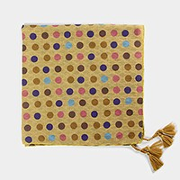 Big Colorful Dots Bandana with Tassel