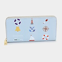 Nautical _ zip around wallet
