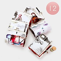 12 PCS - Girl illustration coin clasp purses