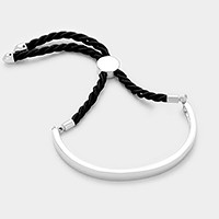 Metal Bar String Adjustable Bracelet