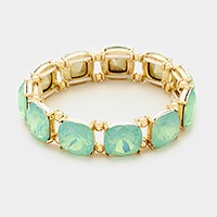Opal Gemstone Stretch Bracelet