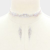 Crystal Rhinestone Pave Choker Necklace