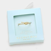 Secret Box _ 14K gold dipped CZ ring