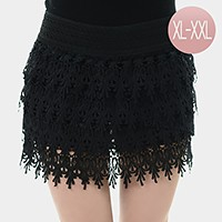Lace mini skirt