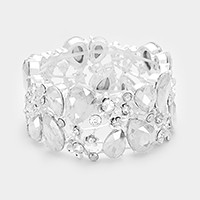 Glass crystal vine stretch bracelet