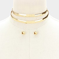 Double omega choker necklace