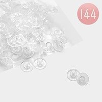 144 PCS - Clear earring backs