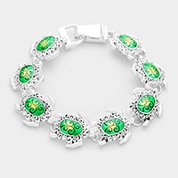 Lacquered turtle link magnetic bracelet