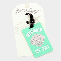 Shell _ Bon Voyage rubber luggage tag