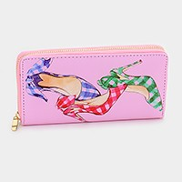Shoes illustration zip around wallet