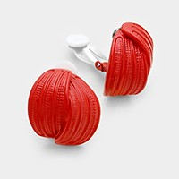 Lacquered metal clip on earrings